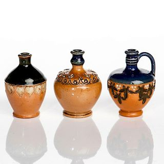 SET OF 3 ROYAL DOULTON MINIATURE VASES AND PITCHER