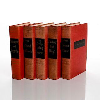 5 BOOKS, 'THE SECOND WORLD WAR', WINSTON CHURCHILL 1948