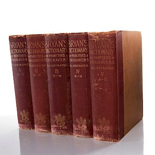 5 VOL. BRYAN DICTIONARY OF PAINTERS AND ENGRAVERS