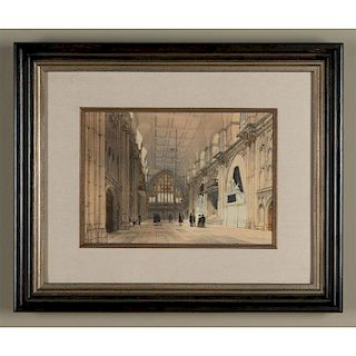 VICTORIAN ENGRAVED PRINT, THE GUILDHALL, T.S. BOYS