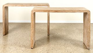 PR CERUSED OAK CONSOLES MANNER JEAN-MICHEL FRANK