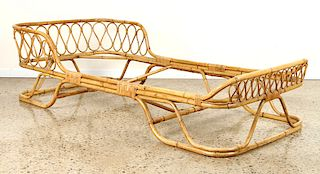 ITALIAN BAMBOO DAY BED WISHBONE FORM C.1950