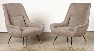 PAIR ITALIAN CLUB CHAIRS MANNER OF GIGI RADICE