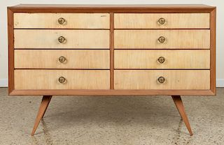 AFRICAN MAHOGANY EIGHT DRAWER DRESSER C.1960