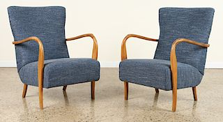 PAIR OF ITALIAN OPEN ARM CHAIRS CIRCA 1950
