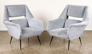PAIR GIGI RADICE UPHOLSTERED CLUB CHAIRS C.1950