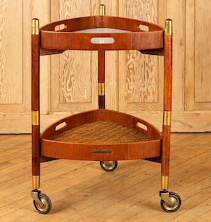 ITALIAN 2 PART STACKING SERVING CART LAMINATE TOP