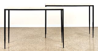 PAIR GIACOMETTI STYLE IRON CONSOLE TABLES