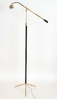BRONZE IRON FLOOR LAMP MANNER JACQUES ADNET C1945