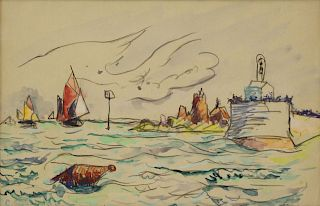 PAUL SIGNAC (FRENCH, 1863-1935).