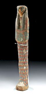 Egyptian Wood Ptah Sokar Osiris, Falcon Head Form