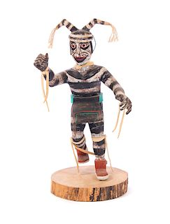 Hopi Koshari Hano Clown Kachina by Lester Crooke