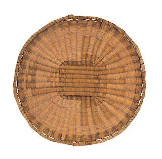 Hopi Rabbitt Brush Flat Basket Tray