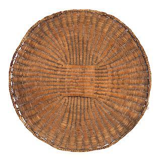 Large Hopi Flat Basket Tray Rabbit Brush