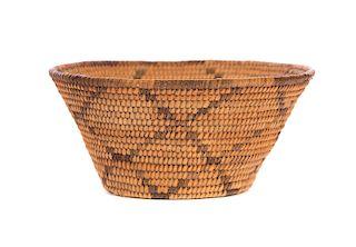 Very Early Hopi Small Pima Coiled Basket