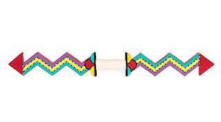 Native American Hopi Carved Lightening Bolt