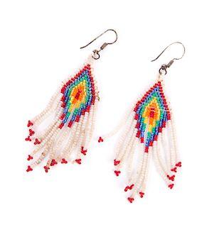 Pair of Native American Beaded Earrings