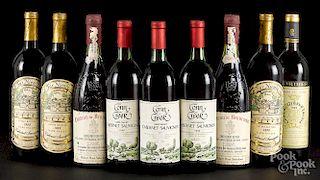 Nine bottles of wine