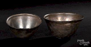 Two Greek silver bowls