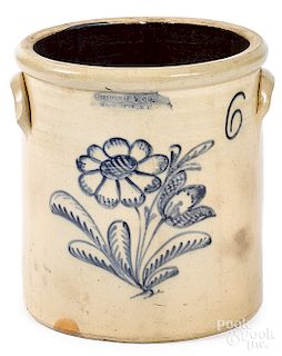 New York six-gallon stoneware crock
