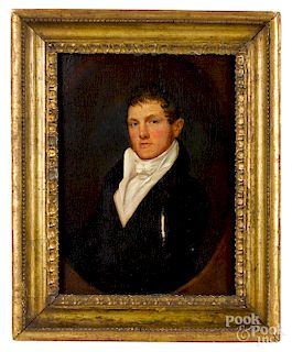 Attributed to Jacob Eichholtz, oil portrait