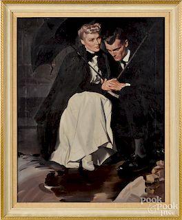 Mortimer Wilson, oil on canvas illustration