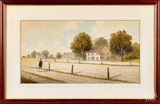 George Emerick Essig, watercolor street scene