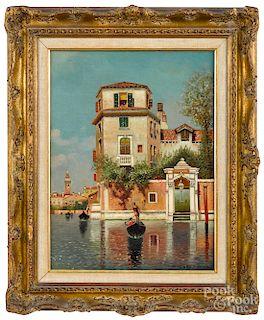 Henry Pember Smith, oil on canvas Venetian scene