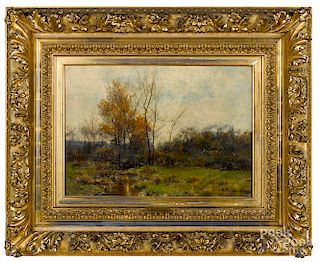 Hugh Bolton Jones, oil on canvas landscape