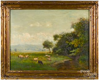 Arthur Parton, oil titled The Beaverkill Valley