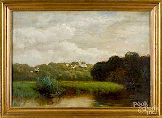 Arthur Parton, oil on canvas landscape