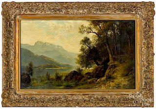 Carl Philipp Weber, oil on canvas landscape