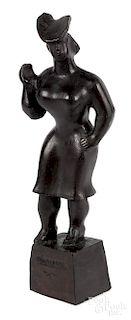 Chaim Gross, bronze of a standing woman