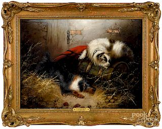 Edward George Armfield, two terriers in a stable