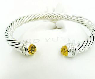 David Yurman Crossover Citrine Diamond Bracelet