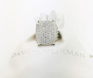 David Yurman Diamond Sterling Silver Wheaton Ring