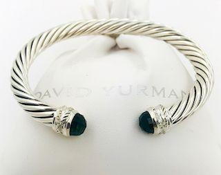 David Yurman Prasiolite Diamond Crossover Bracelet