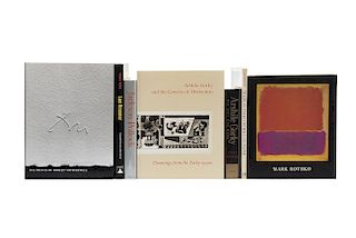 "Libros sobre ""The New York School"". Mark Rothko / Arshile Gorky / The Prints of Robert Motherwell/ Jackson Pollock... Piezas: 7."
