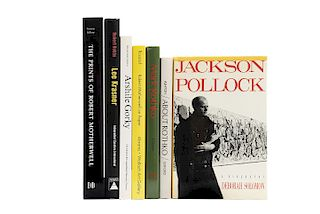 Libros sobre The New York School, Arshile Gorky: A Retrospective / Mark Rothko: Subjects in Abstraction... Piezas: 7.