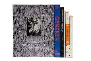 Libros sobre Artistas Alemanes. Isa Genzken: Retrospective / Gerhard Richter / Alibis: Sigmar Polke, 1963-2010... Piezas: 6.