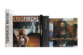 Libros sobre Artistas de la Posguerra, Julian Schnabel / Robert Rauschenberg: A Retrospective / Eric Fischl... Piezas: 6.