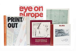 Libros de Arte Contemporáneo, Eye on Europe / Kiki Smith: Prints, Books and Things / The Drawings of Philip Guston... Piezas: 6.