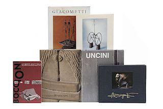 Libros sobre Escultores de Siglo XX. Constantin Brancusi, 1876 - 1957 / Giuseppe Uncini / Alberto Giacometti... Piezas: 6.
