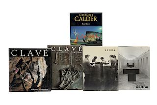 Libros sobre Escultores de Mediados del Siglo XX. Clavé / Richard Serra / Alexander Calder... Piezas: 5.