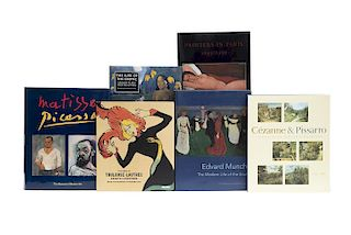 Exhibiciones de Pintores Europeos Modernos. Matisse, Picasso / Painters in Paris, 1895-1950 / The Paris of Toulouse Lautrec... Pzas: 6