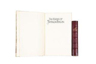 Francis Bacon. Essays. Provenance: Bauman Rare Books. Piezas: 2.