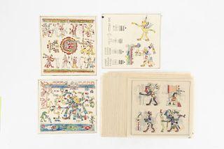 Códice Laud. Pintura de la Muerte y de los Destinos. Facsímil, pintado a mano sobre papel albanene. 46 láminas. Fines S. XIX.