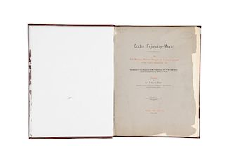 Seler, Eduard. Codex Fejérváry - Mayer. An Old Mexican Picture Manuscript in the Liverpool.. Berlin/London, 1901-1902. Con 22 láminas.