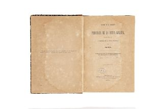Mota Padilla, Matías de la. Historia de la Conquista de la Provincia de la Nueva - Galicia. México, 1521. Tres láminas.