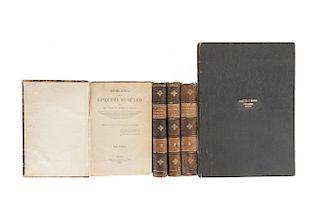 Orozco y Berra, Manuel. Historia Antigua y de la Conquista de México. México, 1880. Texto y Atlas. Pzs: 5.